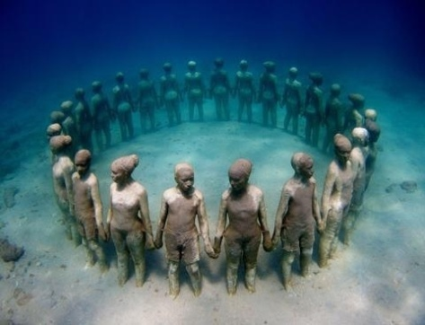 Underwater Sculpture Garden