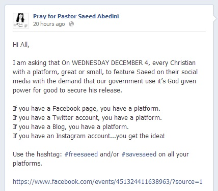 Pastor Saeed day